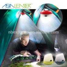 Asia líder productos BT-4894 con gancho en el fondo 3 * AA fuente de alimentación de la batería Mini Camping Light