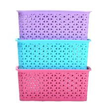 Plastic Weave Design Storage Box for Storage (SLSN057)