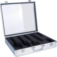 cheap aluminum barber tool case in silver