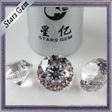 Diamante sintético redondo da categoria superior alta para a jóia da forma
