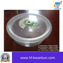 Alta qualidade de vidro transparente com tampa de plástico Kb-Jh06093