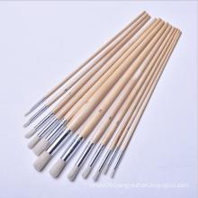 Good Quality Cheap Price Wooden handle Nylon Round Hair Art Brush