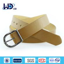 Basic Style Single Pin Buckles Damen Wide PU Gürtel
