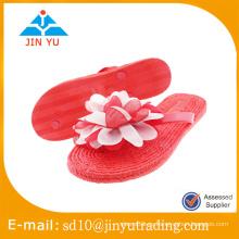 2016 nuevo estilo China precio de fábrica sandalias mujer PVC sandalias