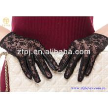 Mode Dame Ziege Haut Spitze Handschuhe