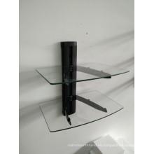 Soporte de cristal de DVD / tubo negro con vidrio transparente