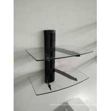Support de verre DVD / tube noir avec verre transparent