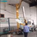 Grúa giratoria en voladizo de vidrio para carga de vidrio