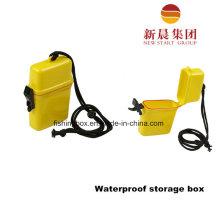 Портативный пластиковый Рыболовный Ящик для Водонепроницаемый хранения