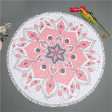 Color sólido Pink Circle Big Beach Towel w