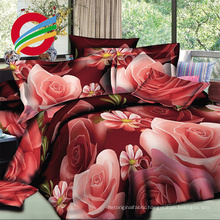 100% polyester microfibre 3d bed sheet with softly feeling, disperse Panel printing 3d Duvet Cover Set