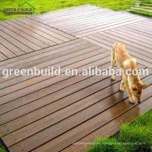 Suelo de madera sólida del roble rojo de la cubierta al aire libre