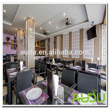 Audu Hotel Bistro Set/Hotel Use Restaurant Bistro Set