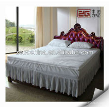 Hotel Baumwolle weißer Farbe Bett Rock zum Verkauf