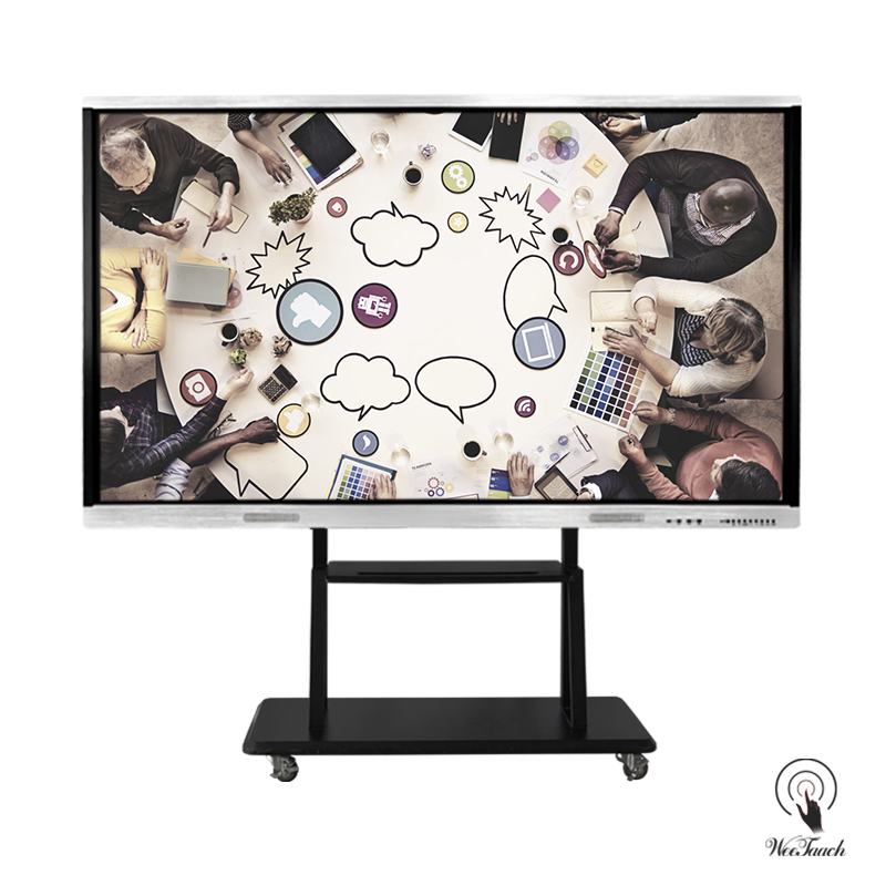 86 Inches All-In-One Display Panel with mobile stand