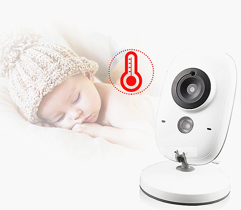 baby monitor with temperature detection