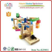 Wooden Roller Coaster Tracks Block Toy