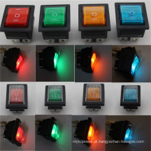 12 V 24 V 110 V 250 V Verde Vermelho Azul Amarelo 6 Pin À Prova de Água Interruptor Rocker