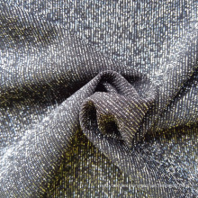 China factory special fabric wept knit nylon silver lurex fabric