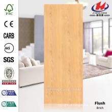 JHK-F01 Flush Liso Straight Line Natural Brich Nigéria folheado Hot Sale HDF Doorskin Fabricação
