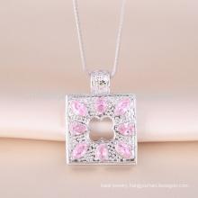 Fashion latest big square pendant design 18k gold pendant