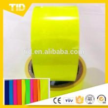 Filme autoadesivo amarelo do vinil do vinil 1x30M fluorescente