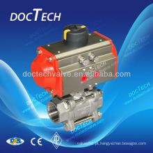 Válvula de esfera de atuador pneumático DIN3202