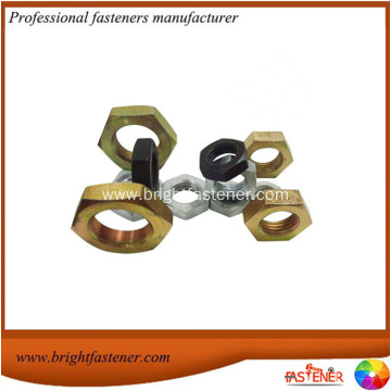 DIN439 Carbon Steel Hex Thin Nuts without Chamfer