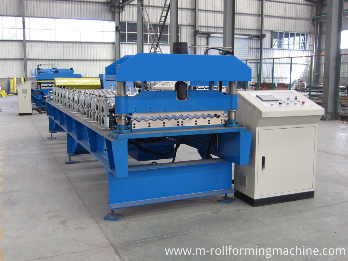 Galvanized corrugated steel sheets machine