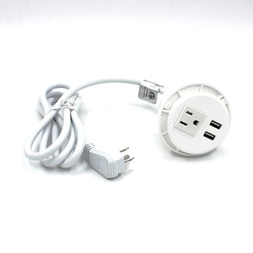 Prise simple blanche 2 ports USB