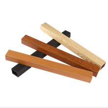 YUJIE Factory 40x25mm Eco-Friendly WPC Timber Tubes Interior Decorative