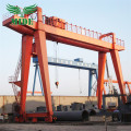 Single hook 10 tonelada double girder gantri kreyn
