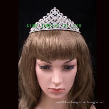 Brillante princesa tiaras rhinestone partido corona