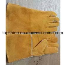 Трудовая промышленная безопасность Скрытая кожаные рабочие перчатки