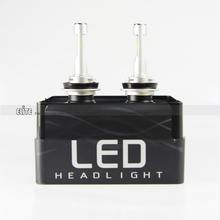 Little Headlight LED Carlamp Electric T5 H10 bombillas 4200LM 6000K con turboventilador