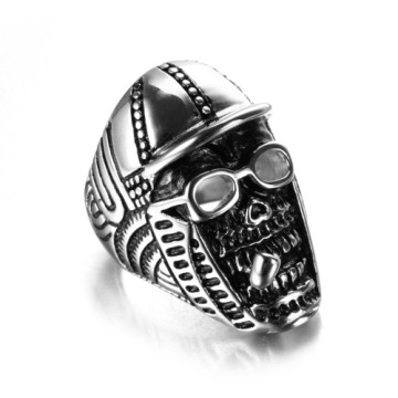 War souvenir cap Smoker skull ring