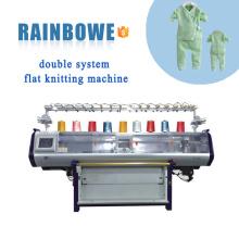 neue zustand hohe geschwindigkeit hohe qualität automatische doppel system computerized flachstrickmaschine preis