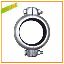 304 et 316 accouplements cannelés de connecteur de tuyau de bride d'acier inoxydable