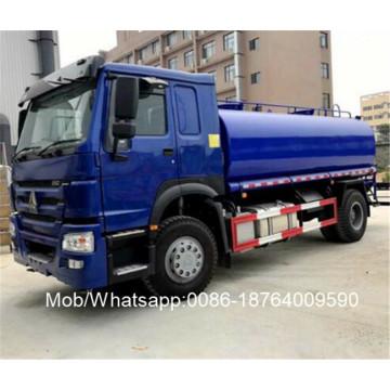 Camion-citerne d'eau en acier au carbone HOWO 15000L