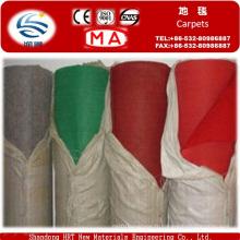 Tapis d'exposition non-tissé uni plié par aiguille de polyester de 100%