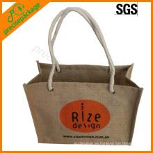 bolsa de yute natural de alta calidad del bolso de compras del bolso del regalo