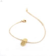 Bracelet en alliage d'or mignon de bijoux en alliage de bijoux d'ananas