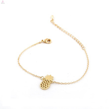 Cute Jewelry Alloy Chain Fruits Gold Charm Pineapple Bracelet