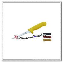 Cuchillo deshuesador U407-1 5 '' con mango de plástico amarillo