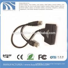 USB2.0 à SATA Câble 20 broches 2 en 1 fonctionnent avec un disque dur HDD 2,5 pouces 3,5 pouces