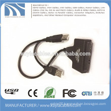 USB2.0 to SATA 20pin cable 2 in 1 work with 2.5'' 3.5'' inch HDD hard drive