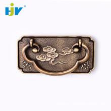 Poignées d'anneau de commode de placard en laiton antique