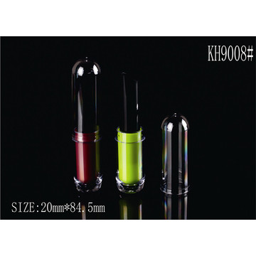 Round Green Plastic Cosmetic Lipstick Packaging