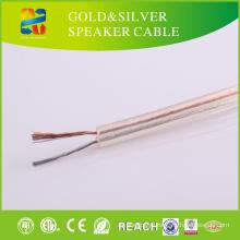 China Baixo Preço Transparente PVC Jacket CCA Speaker Cable