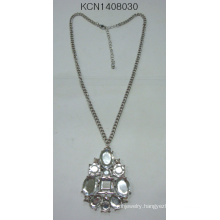 Metal Silver Plated Necklace with Pendant